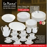 Gold Line 47pcs Dinner Set