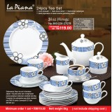 Blue Mirage 24pcs Tea Set