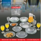 Duralex Lys Clear 32pcs Dinner  Set