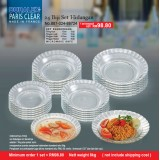Duralex Paris Clear 24biji Set  Hidangan