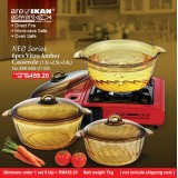 Apiware Vitro Amber 6pcs Casserole  Set With Neo Cover