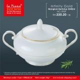 Infinity Gold Mangkuk Berpenutup 3340ml