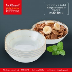 Infinity Gold Mangkuk Cereal 6''