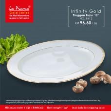 Infinity Gold Pinggan Bujur 12''