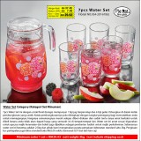 Floral 7pcs Water Set