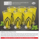 Black Egypt Star 6pcs Footed Tumbler Set