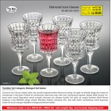 Diamond Juice Glasses (2 set hanya RM 57.60)