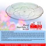 """Floral Round Platter 12"""""""