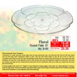 """Floral Round Plate 10"""""""
