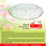 """Floral Round Plate 7"""""""