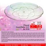 """Floral Round Platter 13.5"""""""