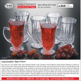 Long Champion 6pcs Mug Set 7oz