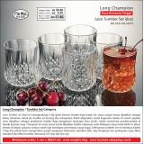 Long Champion Juice Tumbler Set 8oz