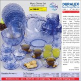 Duralex Beaurivage Marine 44pcs Dinner Set