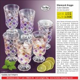 Diamond Jingga Juice Glasses