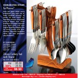24 pcs Cutlery Set With Stand
