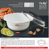Victoria Casserole With Glass Lid 1L