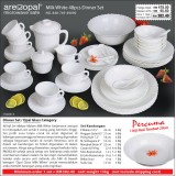 Milk White 48pcs Dinner Set