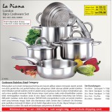 London 8pcs Cookware Set