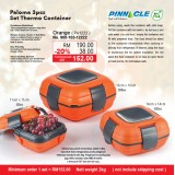 Paloma 3pcs Set Thermo Container  Orange