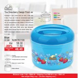 Strawberry Food Jar 3L Blue