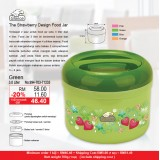 Strawberry Food Jar 3L Green