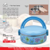 1 Tier Round Food  Carrier  Blue