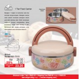1 Tier Round Food Carrier  Brown