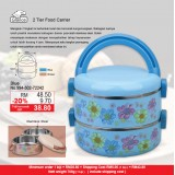 2 Tier Round Food Carrier Blue
